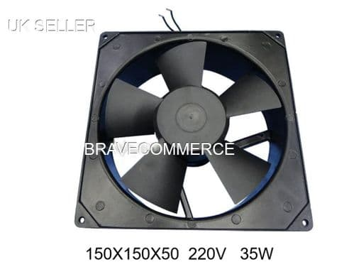 AXIAL FAN SQUARE MOTOR FOR FRIDGE FREEZER COMMERCIAL PANEL150 x150 x50 220v 35w